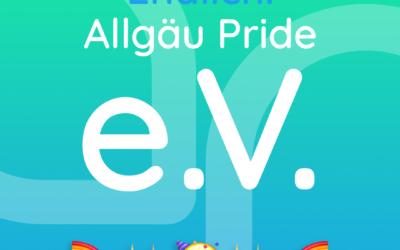 Es ist offiziell! Allgäu Pride ist ein eingetragener Verein.