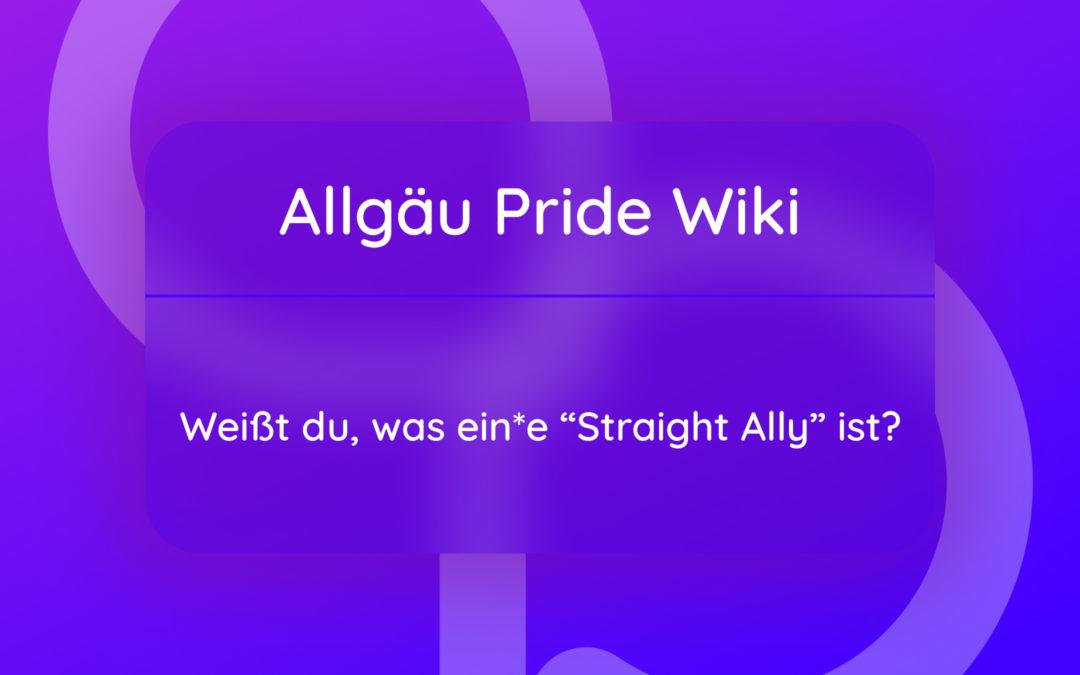 """Was ist ein:e """"Straight Ally""""?"""