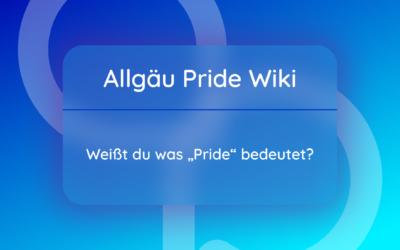 """Weißt Du, was """"Pride"""" bedeutet?"""